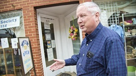 The Rev. David Maack talks about repairs needed at the Annapolis Compassion Center. The center is receiving $50,000 from the state toward the work. (Joshua McKerrow / Capital Gazette)