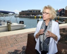 Eileen Fogarty, chair of the City Dock Action Committee, discusses the Urban Land Institute study about how to make better use of the City Dock area. (Paul W. Gillespie/Capital Gazette)